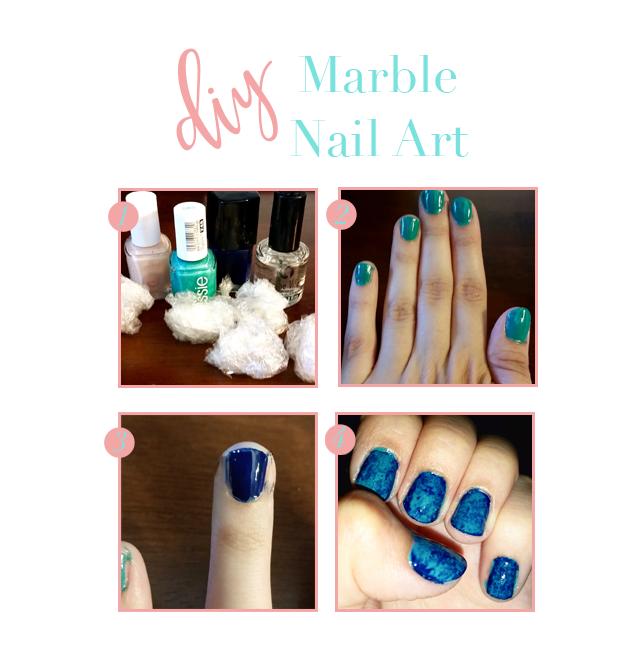 DIY MARBLE NAIL ART